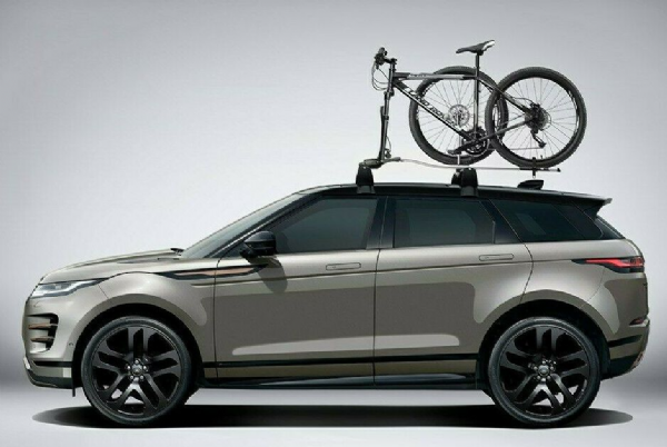 Genuine Range Rover Evoque 19+ Roof Rails & Fork Mounted Bike Carrier